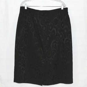 Suit Studio Skirts - SUIT STUDIO Circle & Square Pattern Pencil Skirt !